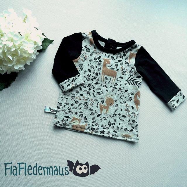 - Selbstgenähtes Babyshirt mit Waldtieren in Größe 68 kaufen   - Selbstgenähtes Babyshirt mit Waldtieren in Größe 68 kaufen