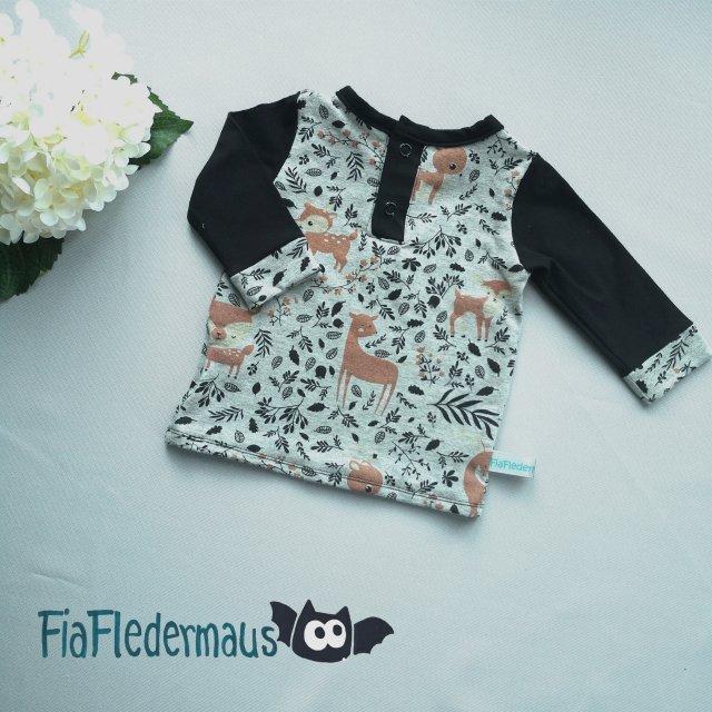 Kleinesbild - Selbstgenähtes Babyshirt mit Waldtieren in Größe 68 kaufen