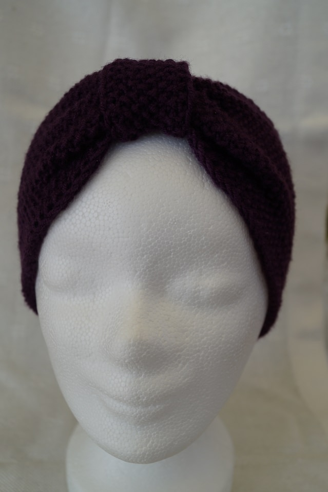 Kleinesbild - Stirnband in Brombeere, Merino