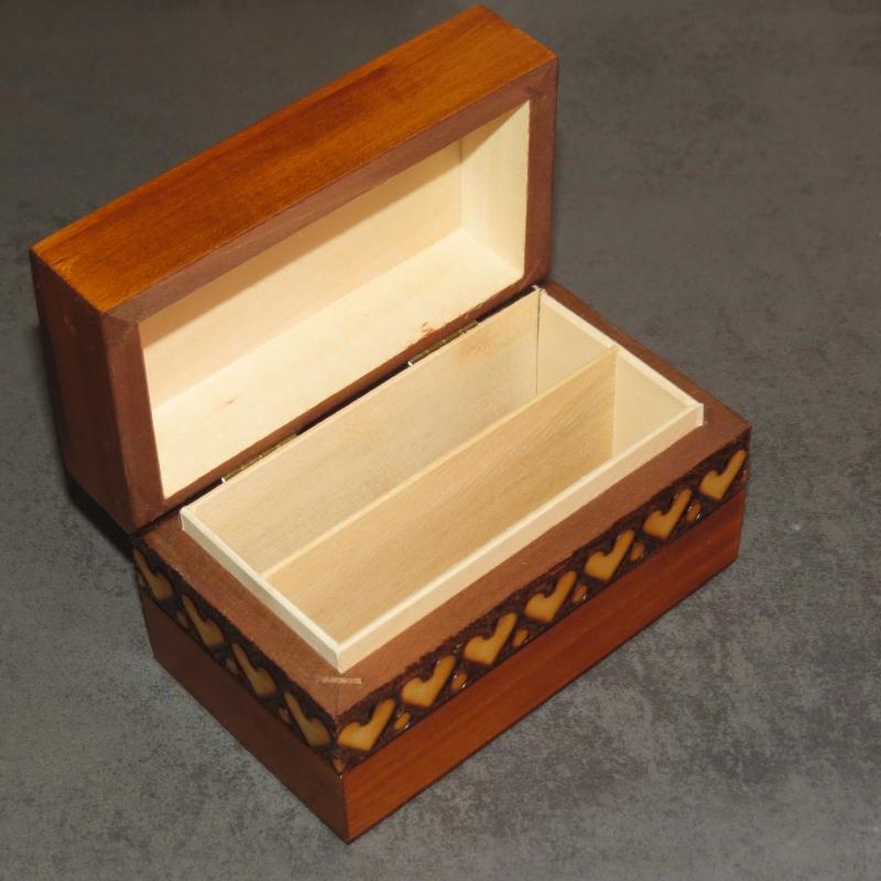 Kleinesbild - Kartenbox Holzbox Spielkartenbox Holz Box Kästchen Aufbewahrung Poker Skat Rome