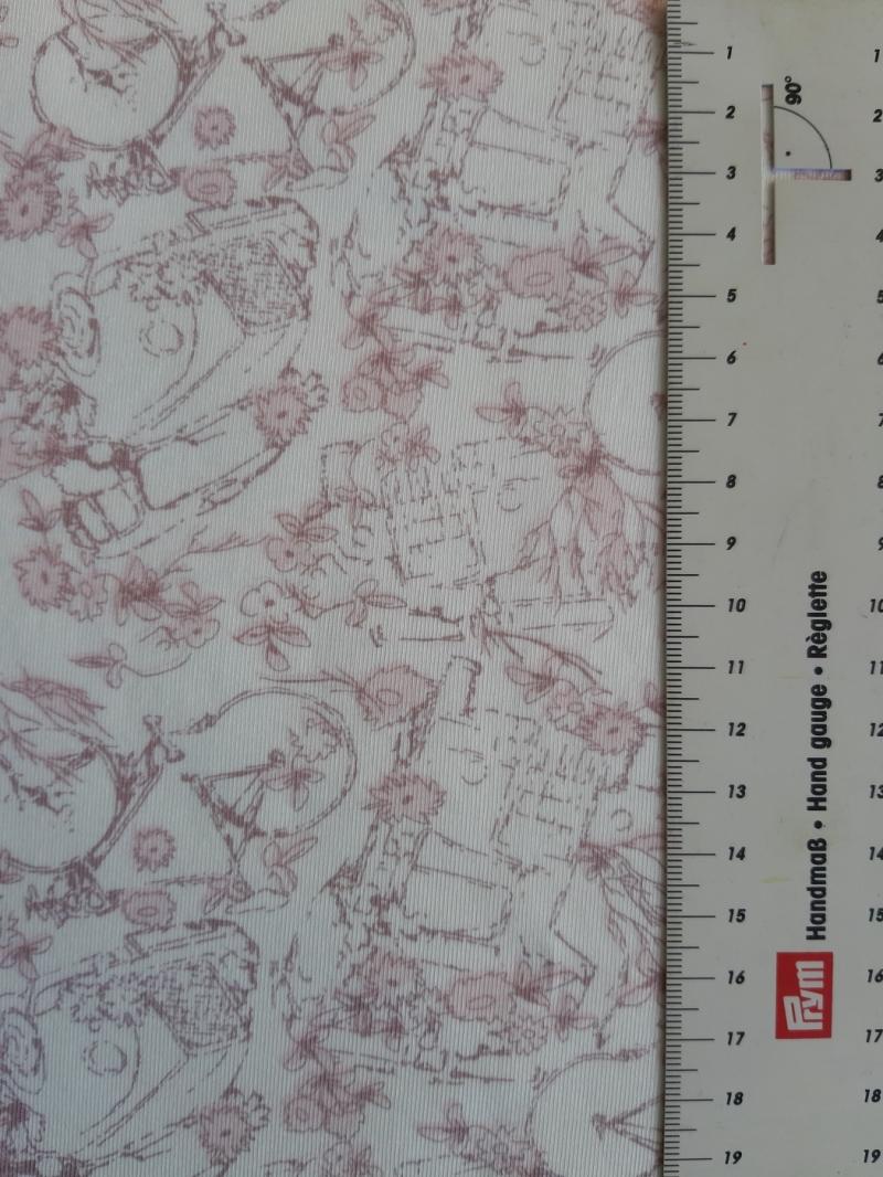 Kleinesbild - Bi-elastischer Jersey zart gemustert auf cremefarbigem Grund 160 cm breit
