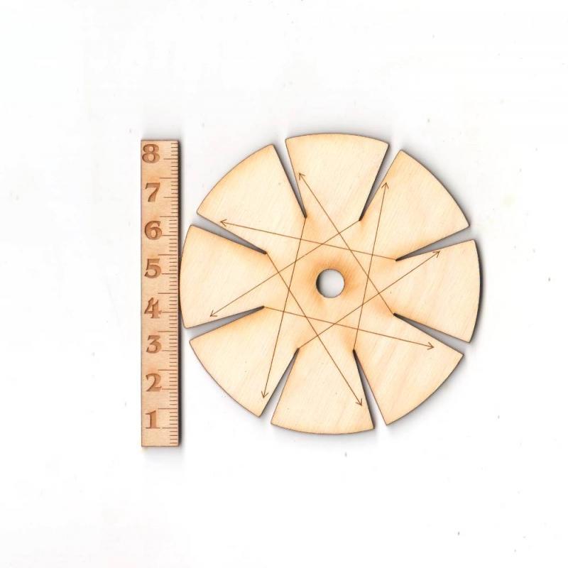 - Knüpfstern aus Holz 8 cm für Freundschaftsbänder knüpfen - Knüpfstern aus Holz 8 cm für Freundschaftsbänder knüpfen