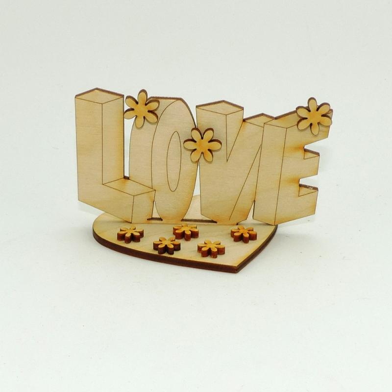 - Love Schriftzug aus Holz stehend zum Basteln mit Kindern oder Freunden an Geburtstagen - Love Schriftzug aus Holz stehend zum Basteln mit Kindern oder Freunden an Geburtstagen
