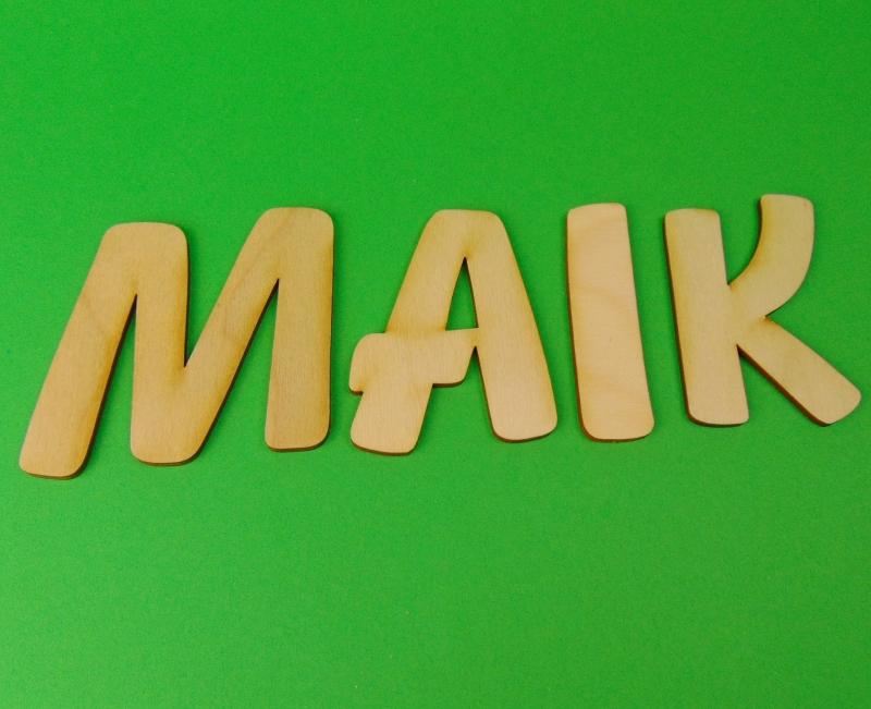 Kleinesbild - Großbuchstabe, Zahl und  Zeichen aus Naturholz ★8 cm ★ zum basteln und kreativen gestalten