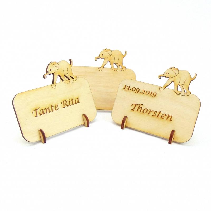 - Tischkarte aus Holz mit Elefant Tier Afrika Geburtstag Hochzeit Taufe Kindergeburtstag - kann personalisiert werden - Tischkarte aus Holz mit Elefant Tier Afrika Geburtstag Hochzeit Taufe Kindergeburtstag - kann personalisiert werden