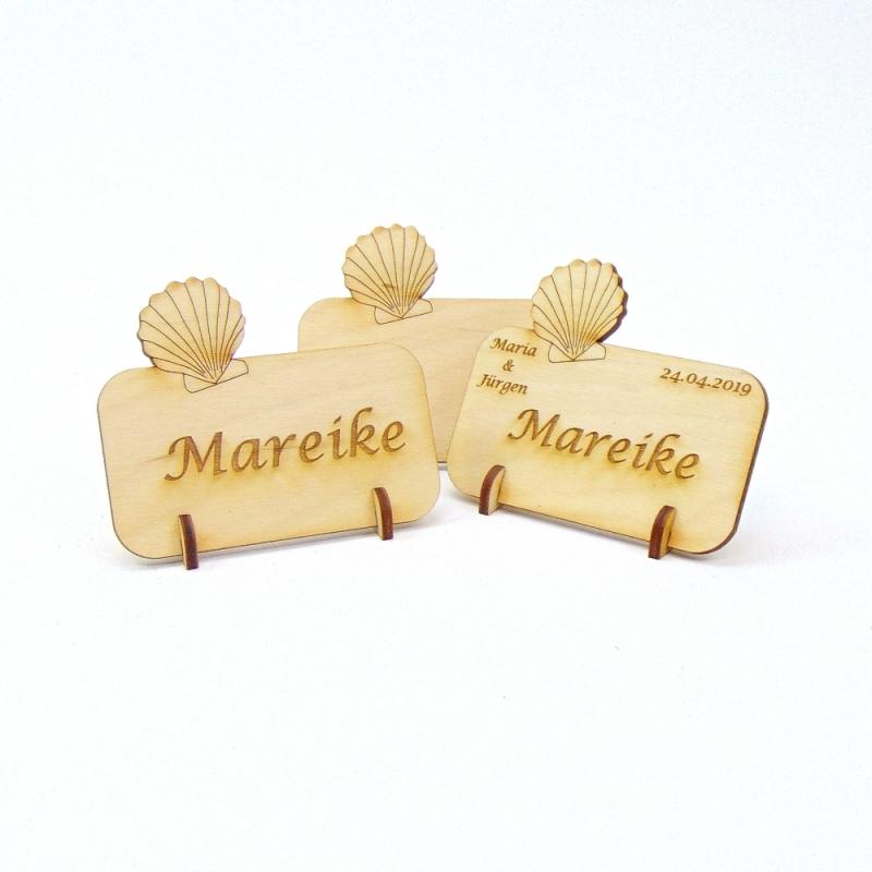 - Muschel Tischkarte Namensschild aus Holz für Hochzeit, Geburtstag, Badezimmer Deko - Muschel Tischkarte Namensschild aus Holz für Hochzeit, Geburtstag, Badezimmer Deko