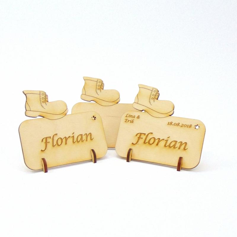 - Stiefel Tischkarte für Weihnachtstafel Namensschild Weihnachtlich aus Holz  - Stiefel Tischkarte für Weihnachtstafel Namensschild Weihnachtlich aus Holz