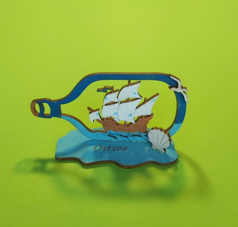 Kleinesbild - Kreativset 4 verschiedene Sorten zum bemalen für Kinder Segelschiff, Buttelschiff, VW Bus, Baum