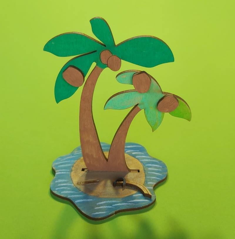 Kleinesbild - Kreativset 4 verschiedene Sorten zum bemalen für Kinder Segelschiff, Buttelschiff, Palme, Dreimaster