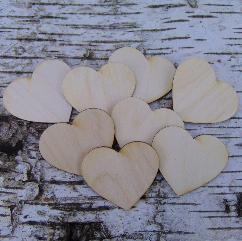 -  ♥ Herzen ♥8 Stck Holzherz.5 cm aus Birkenholz, zum bemalen, Hochzeitstischkarte Tischdeko   -  ♥ Herzen ♥8 Stck Holzherz.5 cm aus Birkenholz, zum bemalen, Hochzeitstischkarte Tischdeko
