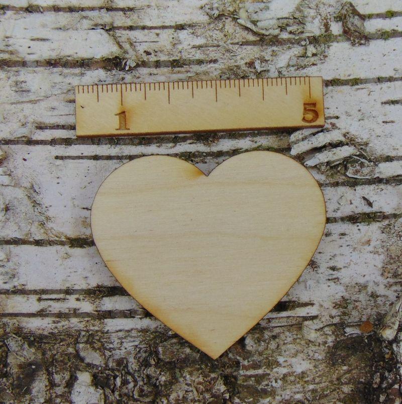 Kleinesbild -  ♥ Herzen ♥8 Stck Holzherz.5 cm aus Birkenholz, zum bemalen, Hochzeitstischkarte Tischdeko