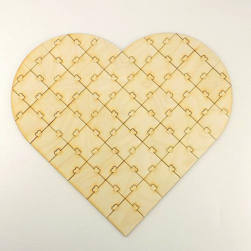 - Holz Puzzle ♥ 47 Teile ♥ zum Bemalen bei Hochzeiten oder Fingerabdrücke, Individuell, Personalisiert - Holz Puzzle ♥ 47 Teile ♥ zum Bemalen bei Hochzeiten oder Fingerabdrücke, Individuell, Personalisiert