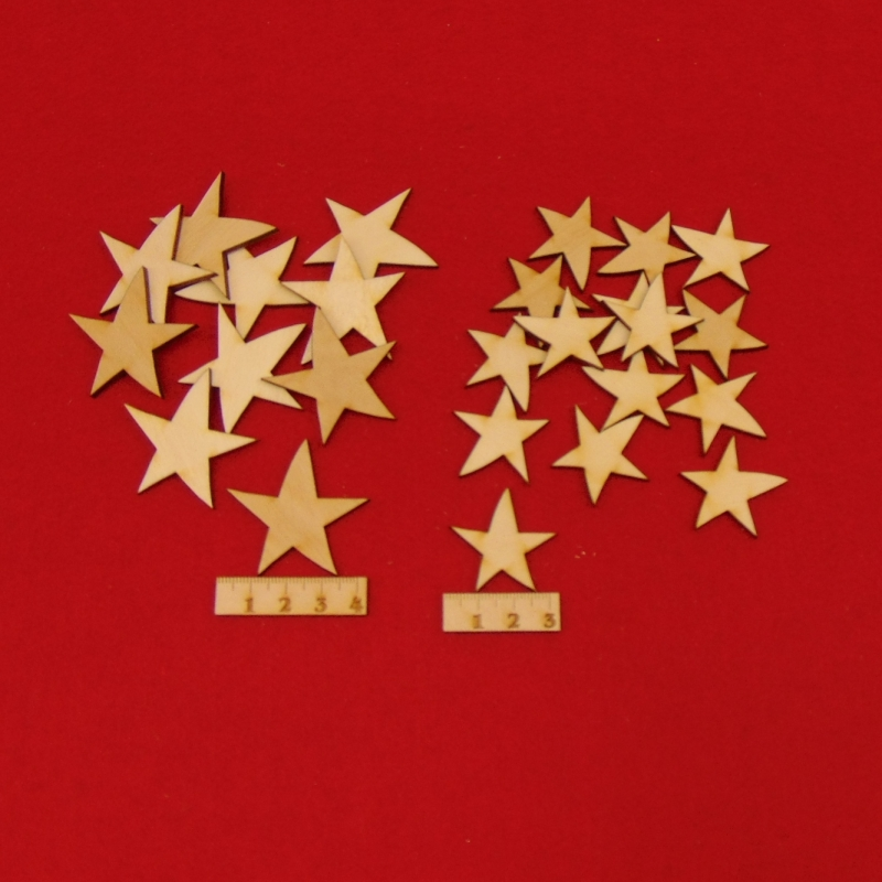 - Holz Sterne 25 Stck naturbelassen in 4 cm und 3 cm gemischt Vintage Look für Weihnachtsdeko Tischdeko Adentsdeko - Holz Sterne 25 Stck naturbelassen in 4 cm und 3 cm gemischt Vintage Look für Weihnachtsdeko Tischdeko Adentsdeko