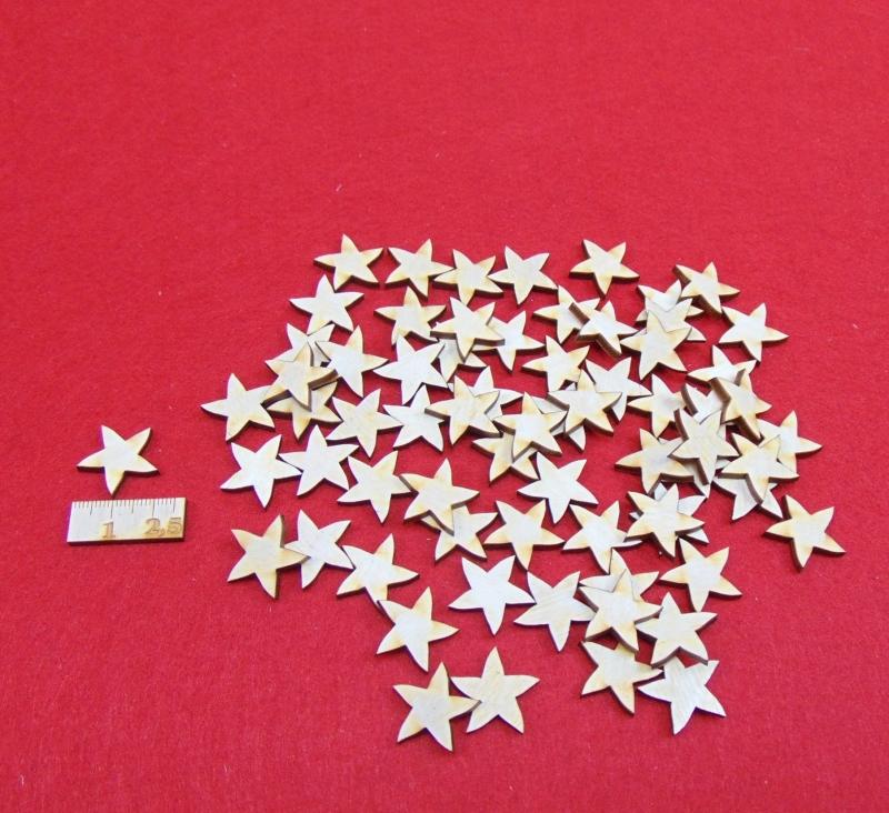 - Holz Sterne 70 Stck naturbelassen in 2 cm Vintage Look für Weihnachtsdeko  auch zum bemalen - Holz Sterne 70 Stck naturbelassen in 2 cm Vintage Look für Weihnachtsdeko  auch zum bemalen