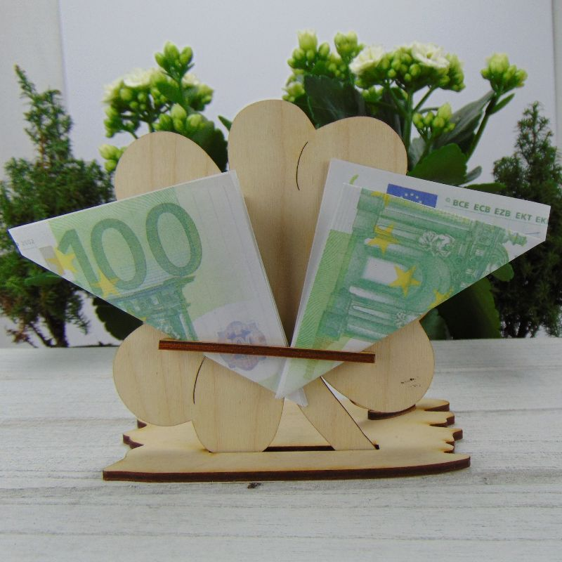 Kleinesbild -  ♥ Personalisiertes Kleeblatt ♥ Geburtstagskleeblatt Zahl 90 mit Glückwünschen aus Holz 16 cm