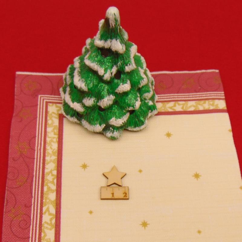 Kleinesbild -  ★ Weihnachtssterne aus Holz ★ 70 Stück naturbelassen, 2 cm, Tischdeko, Weihnachtsdeko, Fensterdeko
