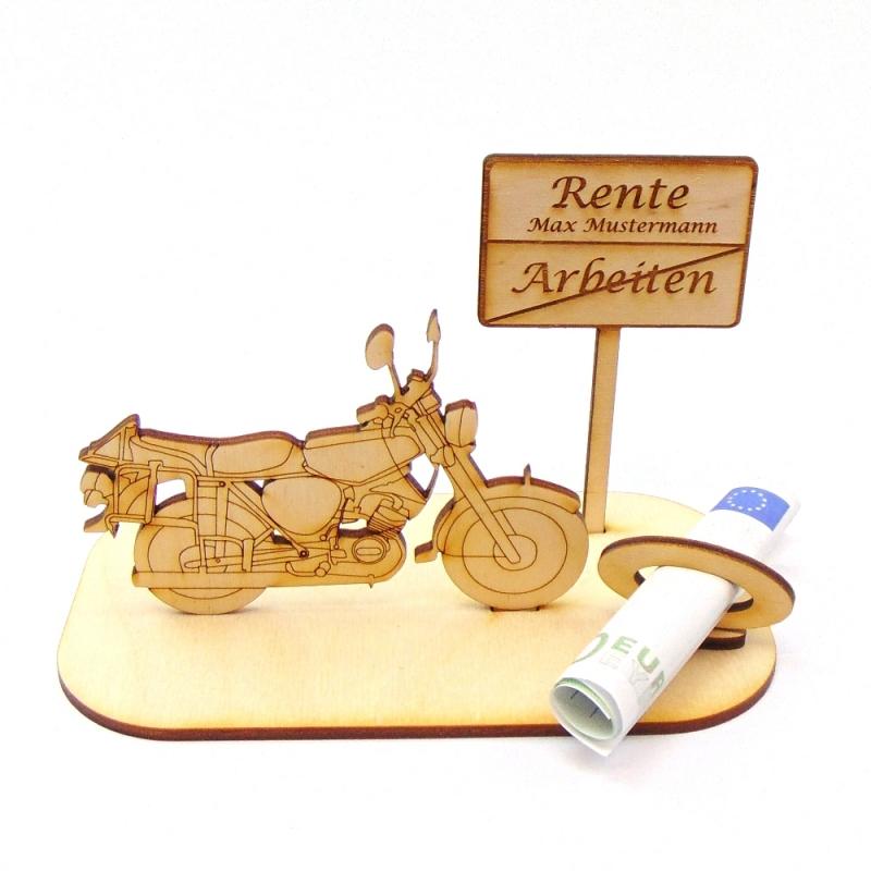 """-  ♥ Geldgeschenk ♥ Moped mit Schild """"Rente"""" ♥ Wunschgravur, Personalisiert -  ♥ Geldgeschenk ♥ Moped mit Schild """"Rente"""" ♥ Wunschgravur, Personalisiert"""