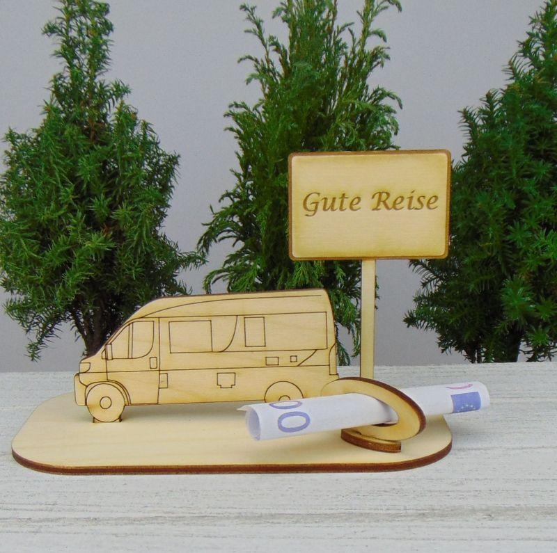 - Geld- oder Gutscheingeschenkset ★ Van Wohnmobil aus Holz mit Aufschrift  - Geld- oder Gutscheingeschenkset ★ Van Wohnmobil aus Holz mit Aufschrift