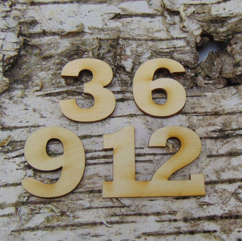 - Römische Ziffern oder Zahlen aus Naturholz ★35 mm ★ 3 6 9 12 für Uhren  - Römische Ziffern oder Zahlen aus Naturholz ★35 mm ★ 3 6 9 12 für Uhren
