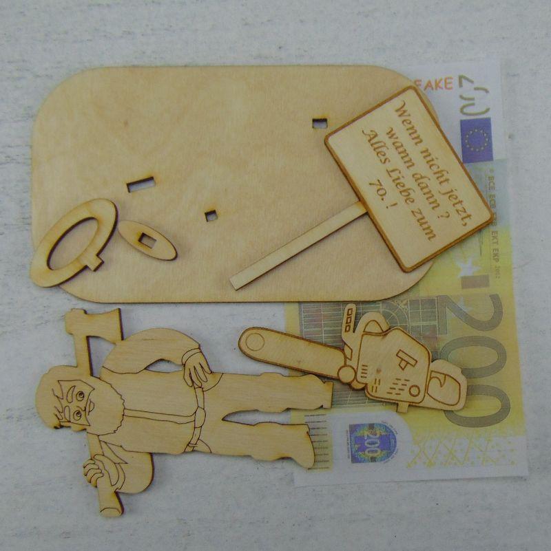 Kleinesbild - Geldgeschenkeset  ★ Holzfäller ★ Ein Mann, ein Wort, ein Werkzeug ★ Personalisierung möglich