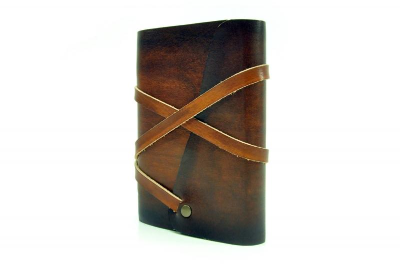 Kleinesbild - Lederbuch Tagebuch Notizbuch - soft OX Loony - Coco - A6 - 400 Seiten - Vickys World - Kostenloser Versand