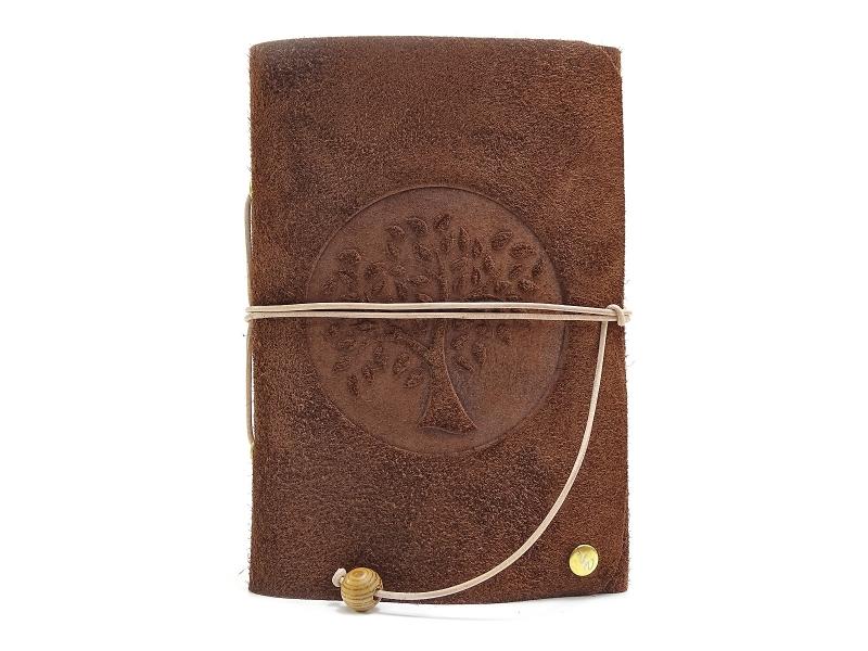 Kleinesbild - Lederbuch Tagebuch Notizbuch - Travel Memory Life Tree Bamby A6 - 100 Seiten - Vickys World - Kostenloser Versand