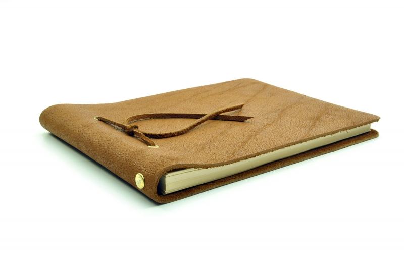Kleinesbild - Lederbuch Tagebuch Notizbuch Skizzenbuch Gästebuch - Buffalo Sketch Caramel - A5 - 200 Seiten - Vickys World - Kostenloser Versand
