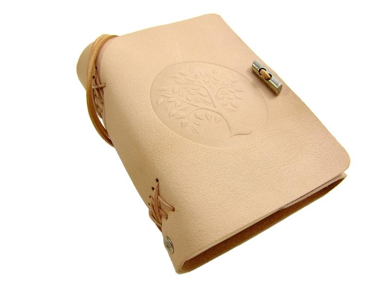 Kleinesbild - Lederbuch Tagebuch Notizbuch - soft OX Life Tree Nature - A6 - 400 Seiten - Vickys World - Kostenloser Versand