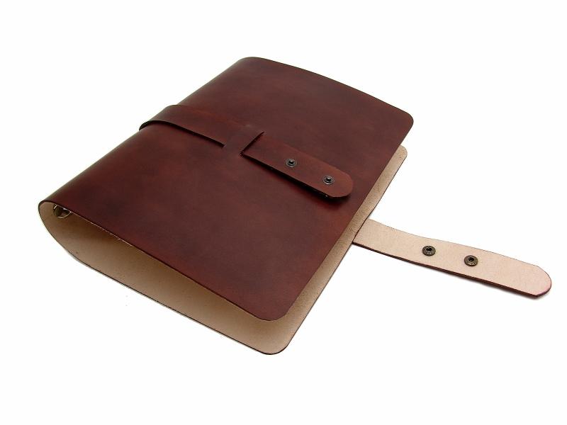 Kleinesbild - Leder Ringbuch Ordner OX Office Bonny Maroon A4  - Vickys World - Kostenloser Versand