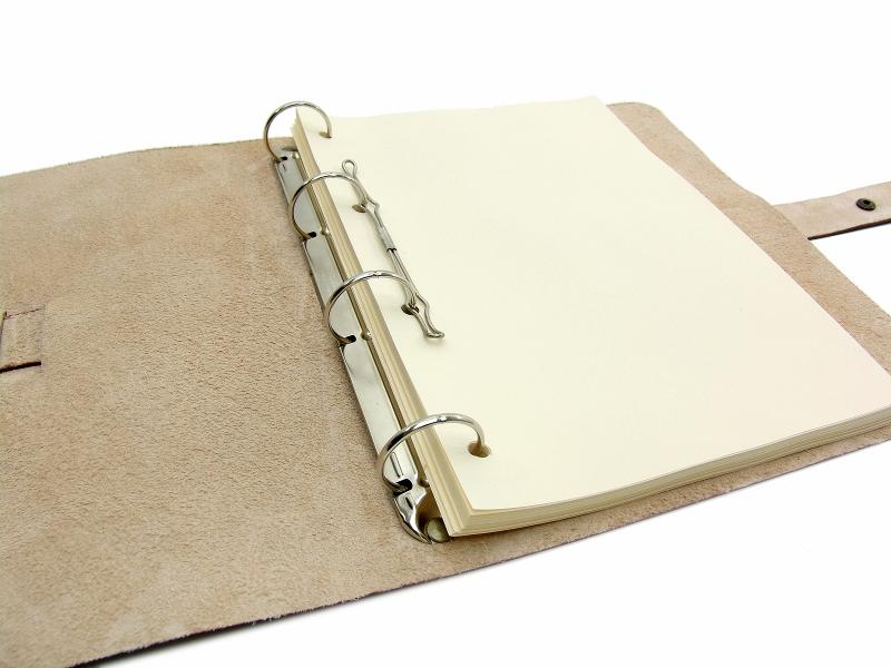 Kleinesbild - Leder Ringbuch Ordner OX Office Bonny Coco A4  - Vickys World - Kostenloser Versand