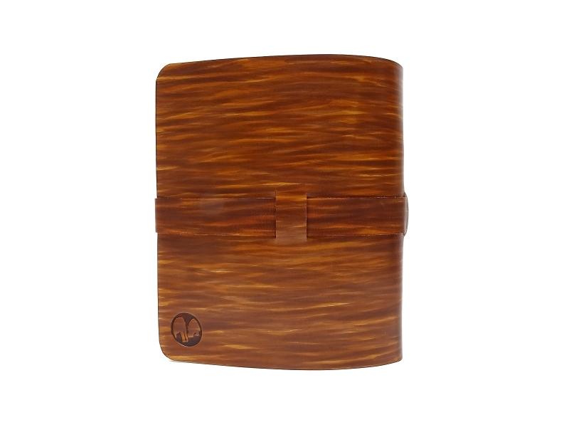 Kleinesbild - Leder Ringbuch Ordner OX Office Coco Maroon A5  - Vickys World - Kostenloser Versand
