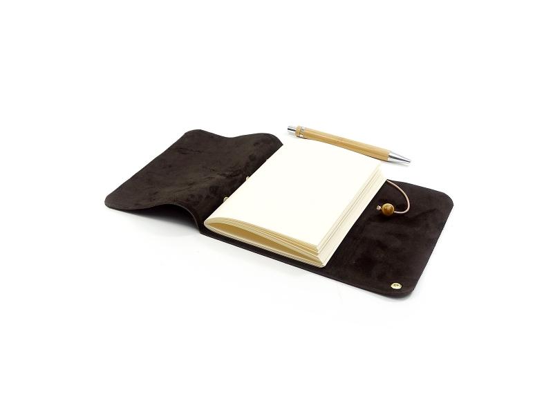 Kleinesbild - Lederbuch Tagebuch Notizbuch - Travel Memory Chocolate A6 - 100 Seiten - Vickys World - Kostenloser Versand