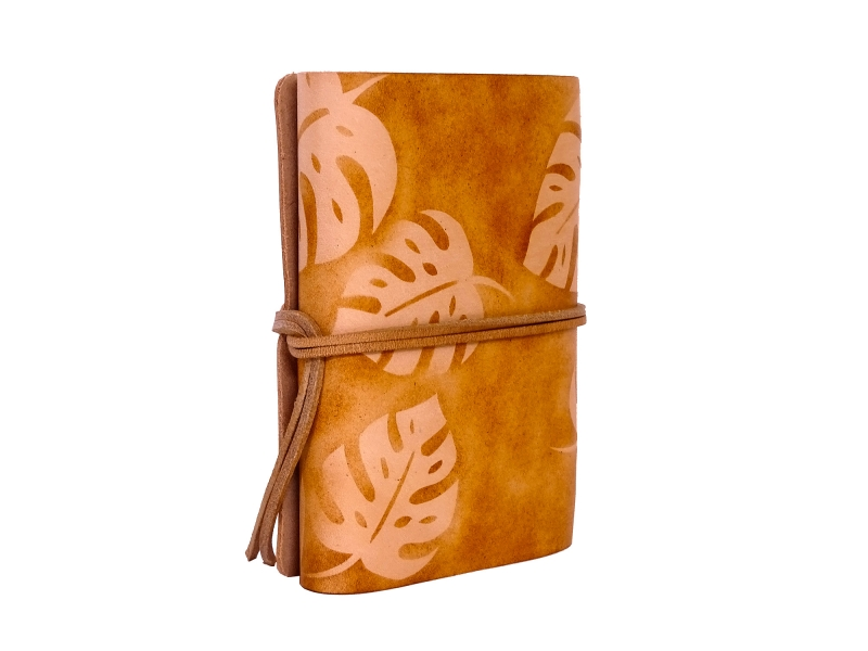 Kleinesbild - Lederbuch Tagebuch Notizbuch - soft OX Monstera Scuff - A6 - 400 Seiten  - Vickys World - Kostenloser Versand