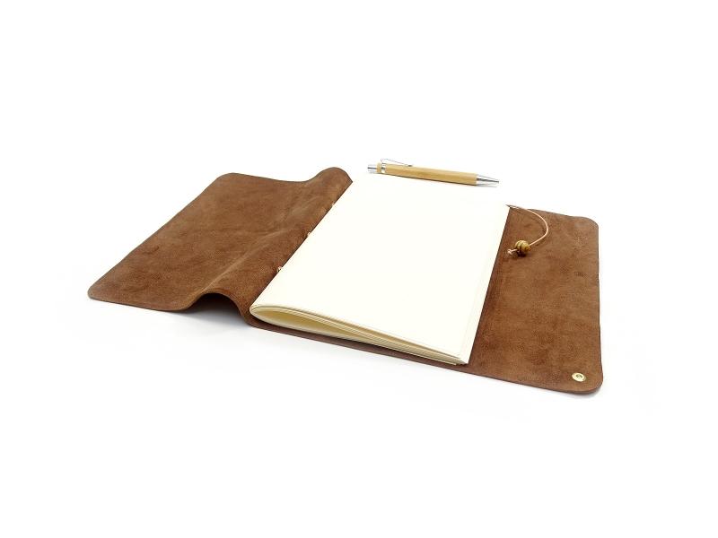 Kleinesbild - Lederbuch Tagebuch Notizbuch - Travel Memory Bamby A5 - 100 Seiten - Vickys World - Kostenloser Versand (Kopie id: 100199124) (Kopie id: 100219019)