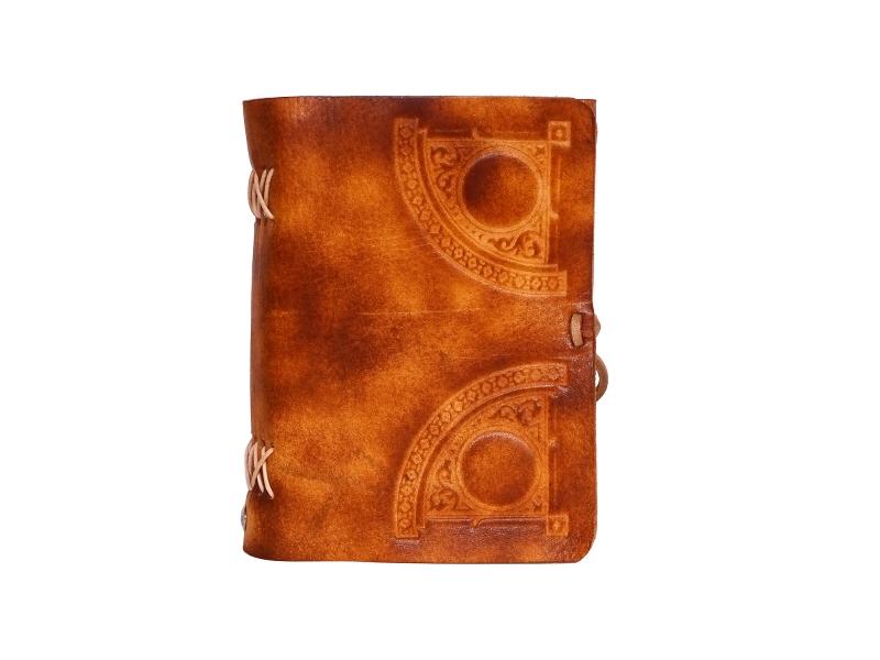 Kleinesbild - Lederbuch Tagebuch Notizbuch - soft OX Circle Scuff - A6 - 400 Seiten  - Vickys World - Kostenloser Versand