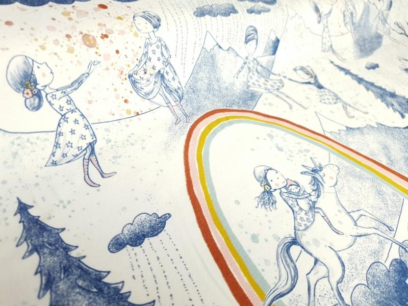 - Lillestoff Bio-Jersey - Am Anfang des Regenbogens - Susalabim - Regenbogen Stoff - 0.5 m pro Stück - Lillestoff Bio-Jersey - Am Anfang des Regenbogens - Susalabim - Regenbogen Stoff - 0.5 m pro Stück