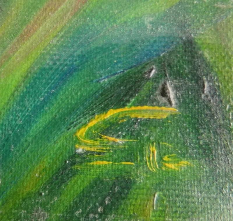 Kleinesbild - Hagebutten, Ölbild auf Leinwand auf Keilrahmen aufgezogen