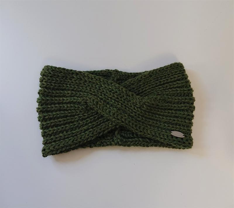 - Stirnband gestrickt aus 100% Wolle ( Merino)  in moos grün mit gekreuzten Twist , handgestrickt von la piccola Antonella - Stirnband gestrickt aus 100% Wolle ( Merino)  in moos grün mit gekreuzten Twist , handgestrickt von la piccola Antonella
