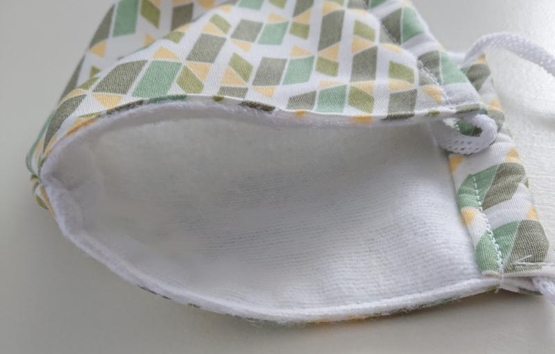Kleinesbild - Mund - und Nasen - Maske  aus Baumwolle , Molton, waschbar, 1 Stück , KEIN Virenschutz , handmade by la piccola Antonella