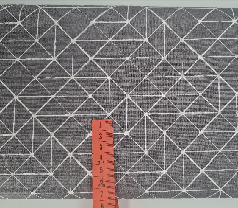 Kleinesbild - Baumwollstoff Striche Linien in grau weiß, Meterware Kurt, Webware, Stoffe kaufen bei la piccola Antonella