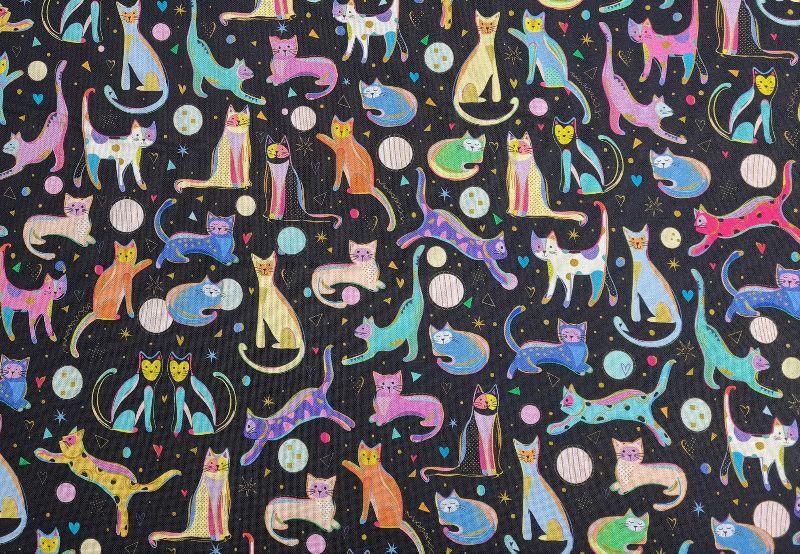 Kleinesbild - Baumwollstoff Kitty Cats by QT fabrics, Meterware, Webware, Dekostoff, Stoffe kaufen bei la piccola Antonella