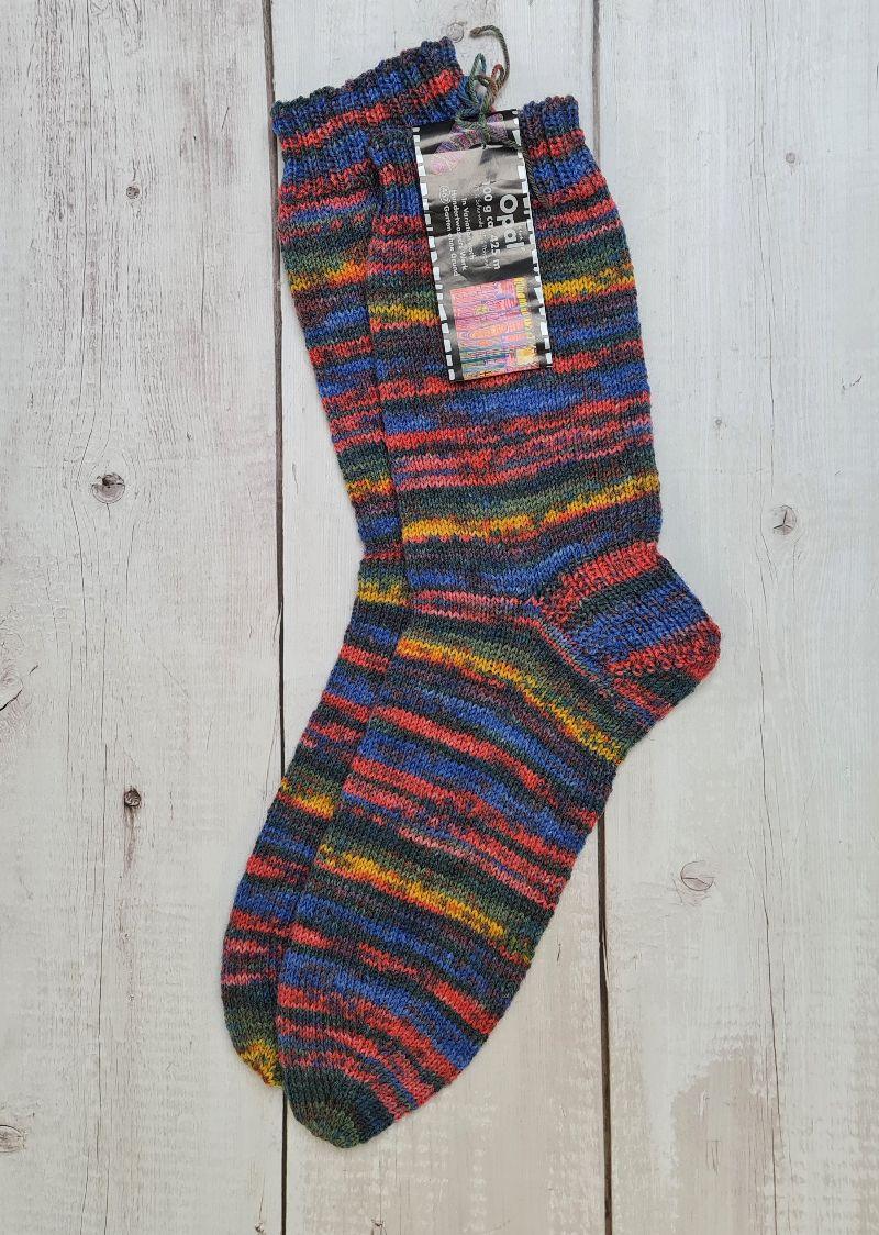 Kleinesbild - Gestrickte Socken für den Mann, Gr. 44/45 , Wollsocken, Kuschelsocken, handgestrickt, la piccola Antonella