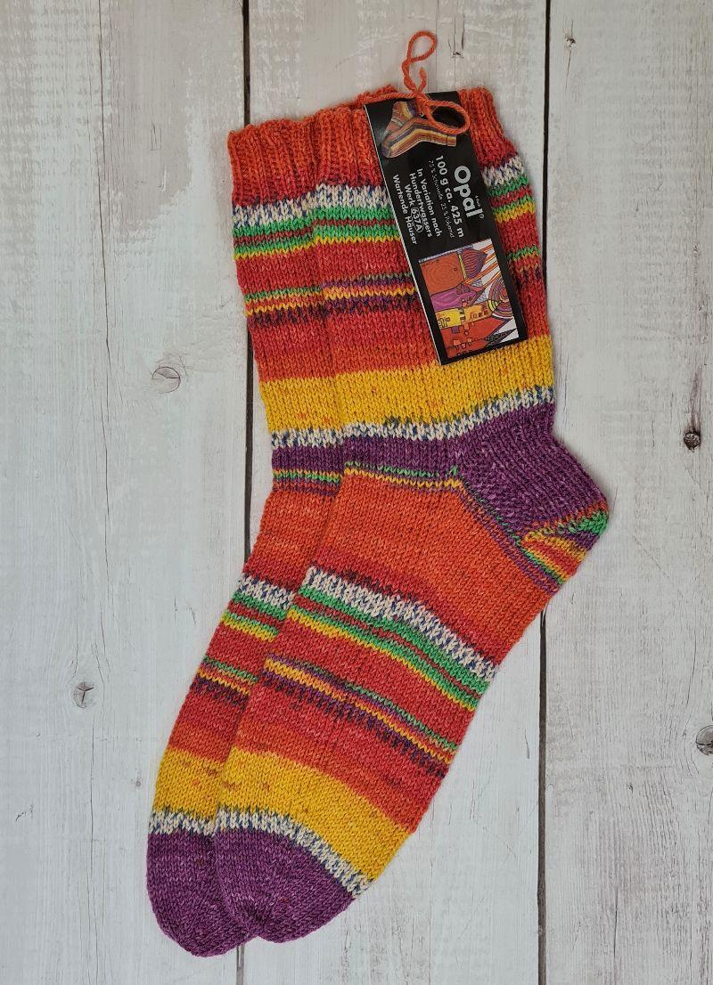 Kleinesbild - Gestrickte Socken für den Mann, Gr. 42/43, Wollsocken, Kuschelsocken, handgestrickt, la piccola Antonella