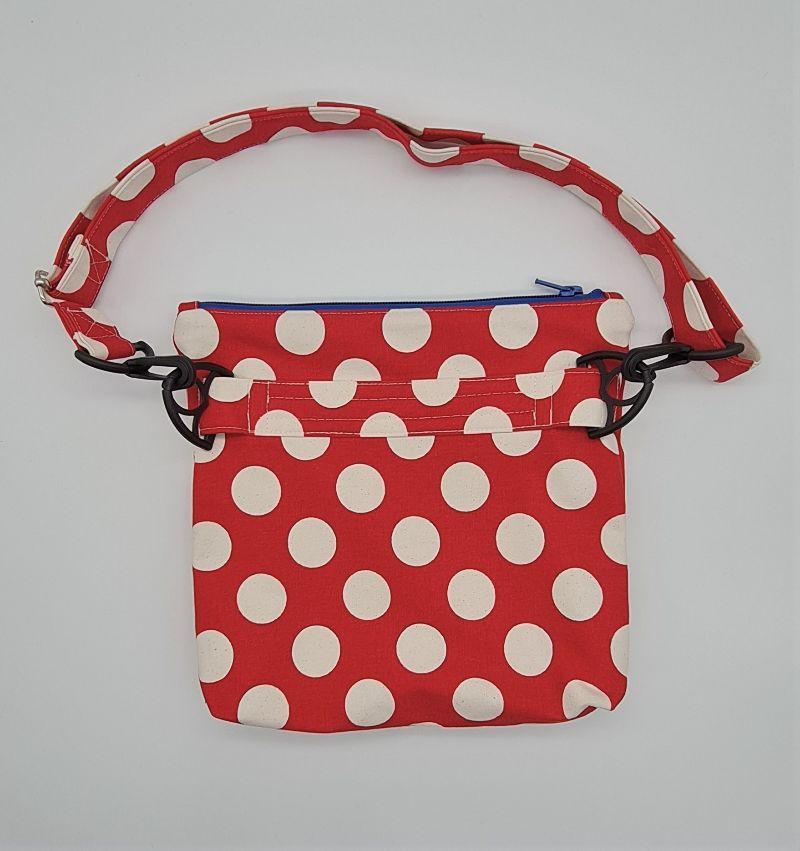 Kleinesbild - Bauchtasche Dots in rot, tragbar auch als Crossbag, Umhängetasche, handmade by la piccola Antonella