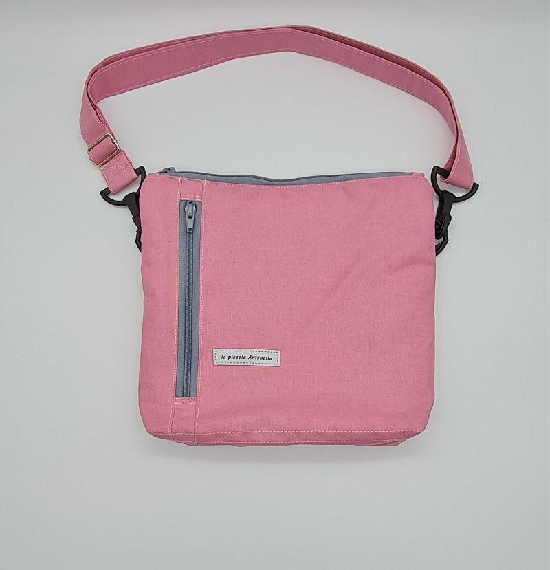 - Bauchtasche in rosa, tragbar auch als Crossbag, Umhängetasche, handmade by la piccola Antonella - Bauchtasche in rosa, tragbar auch als Crossbag, Umhängetasche, handmade by la piccola Antonella