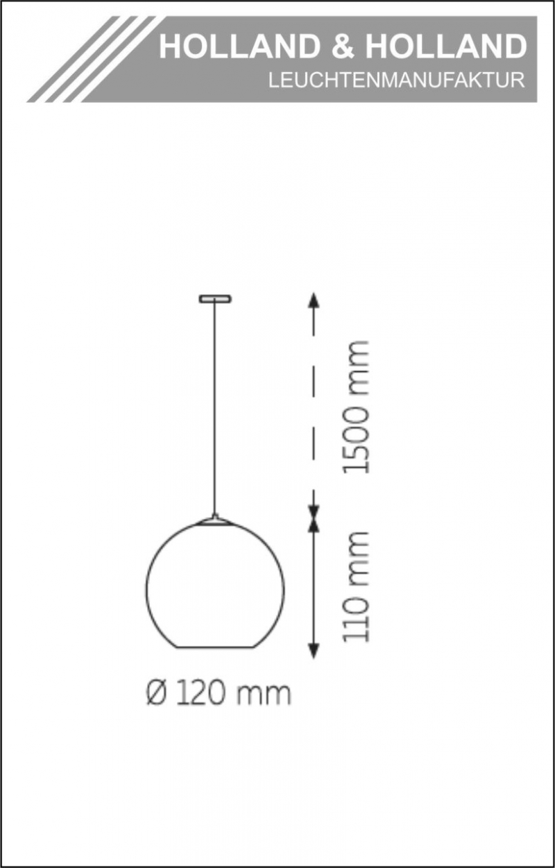 Kleinesbild - Einzelpendel Glas Kristall rauch-Opal Weiß  3 fach- Chrom Ø120mm mit Baldachin - Im zeitlosen Design, mundgeblasen und handgefertigt - Holland&Holland Leuchtenmanufaktur