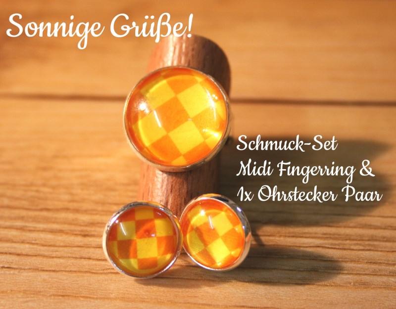 - Schmuck-Set Sommerliebe, Fingerring & Ohrstecker - Schmuck-Set Sommerliebe, Fingerring & Ohrstecker