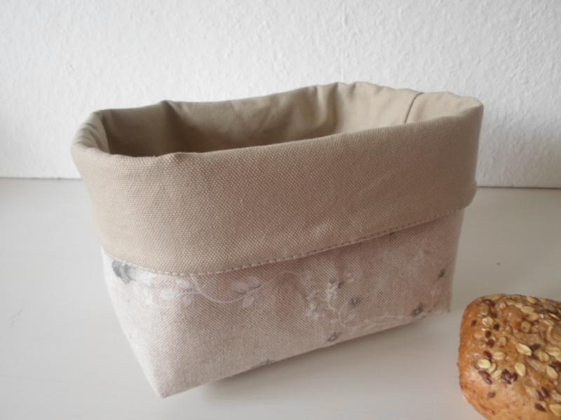 Kleinesbild - Stoffkorb/ Brotkorb *Roma Antica* Baumwolle beige (sehr fest) von friess-design