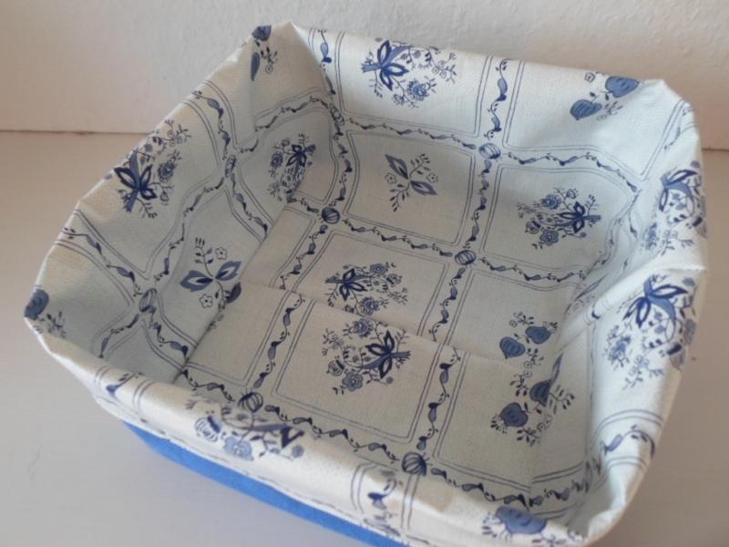 Kleinesbild - Brotkorb *Cipolle* quadratisch 19x19cm, abwischbar, sehr fest von friess-design