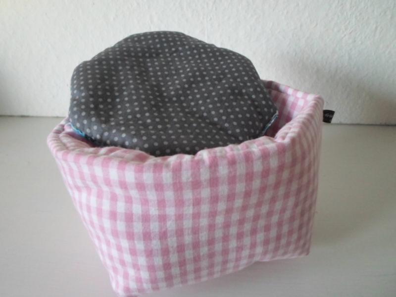 Kleinesbild - Eierkörbchen/ Eierwärmer *Farina rosa* Baumwolle mit Deckel nach Wahl von friess-design